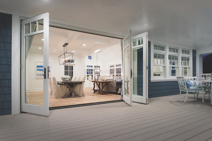 Your doorway to an inspiring view maine homes for Marvin bi fold doors