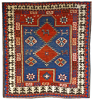 3'4x3'8 Kazak Bordjalou prayer rug
