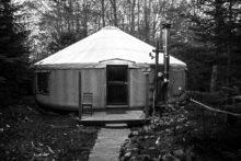 Island Yurt in the Woods