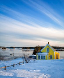 Yellow House on the harbor