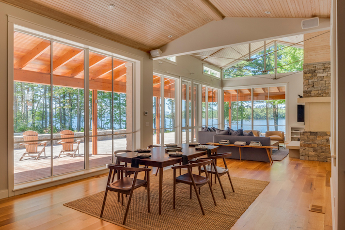 Sebago Lake Home Dining Room