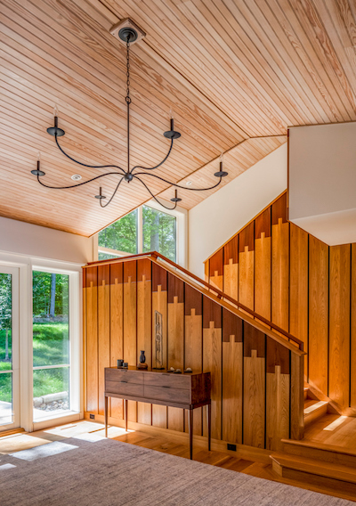 Sebago Lake House Staircase