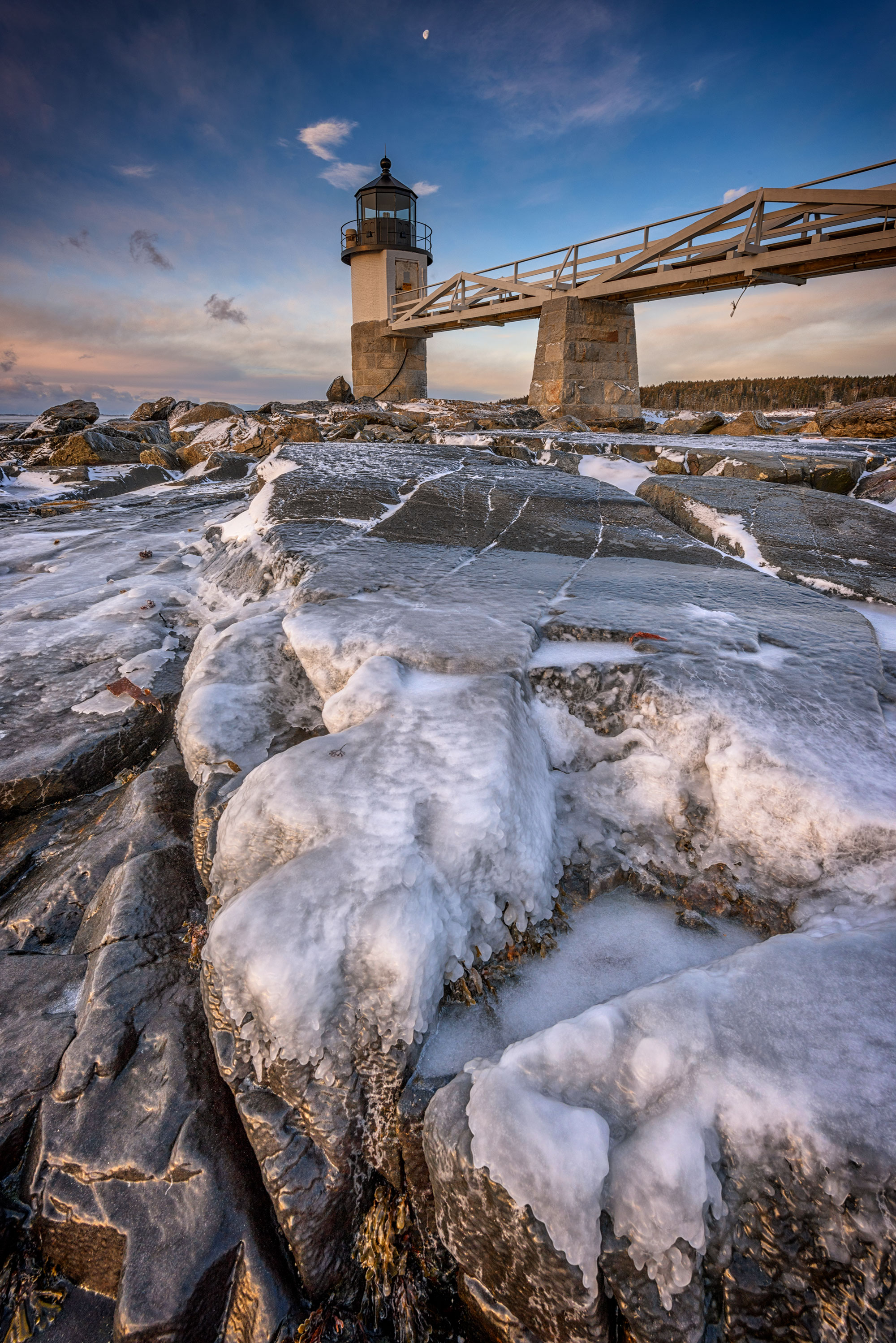 Winter Freeze At Marshall Point