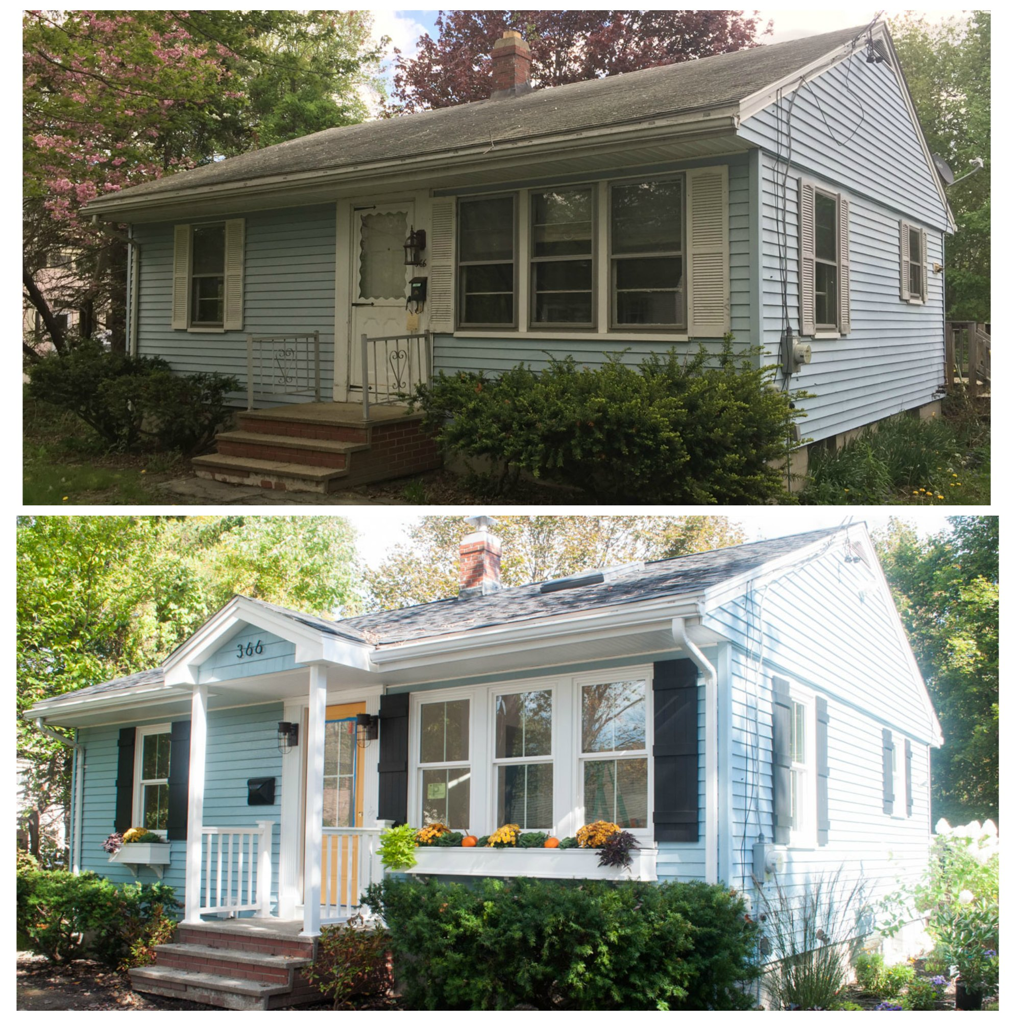 Reader photos maine homes for Before after exterior 1930