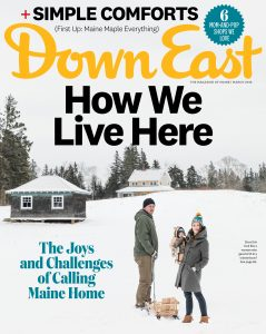 March 2018 Down East Magazine cover