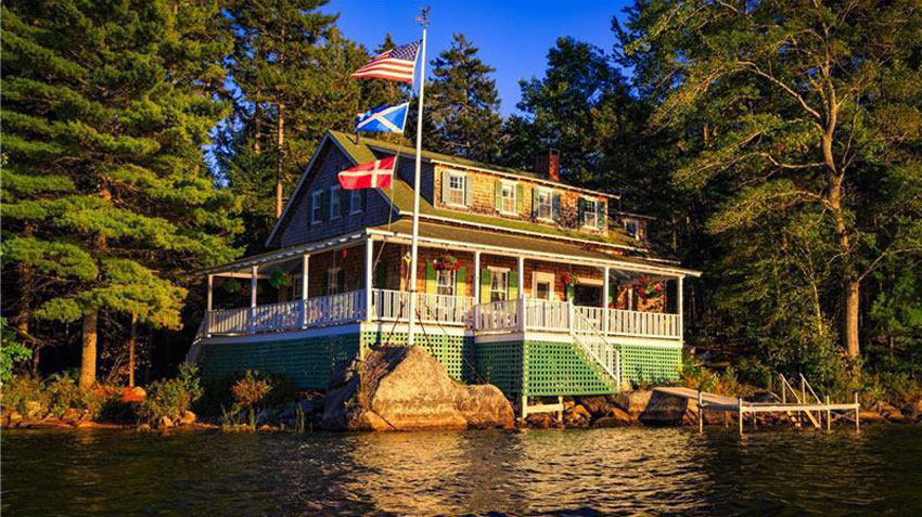 Sedgwick house on the water