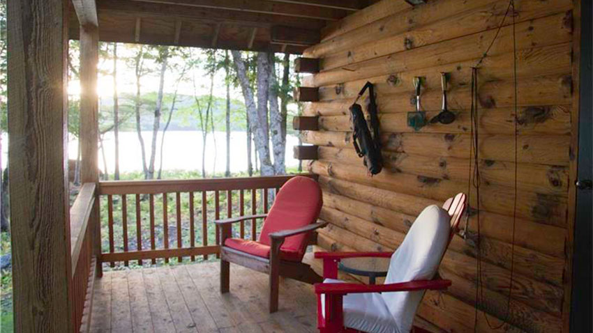 Sedgwick lake home lake view porch