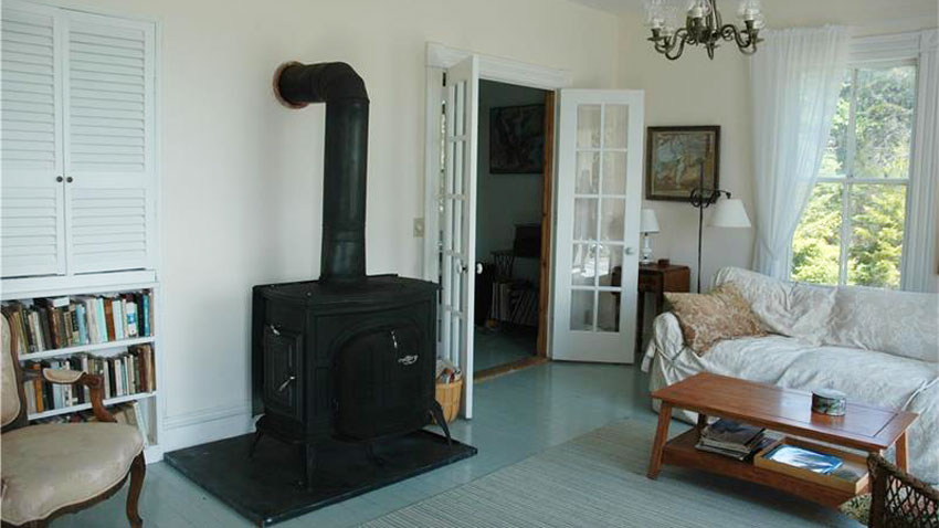 Cranberry Harbor farmhouse woodstove