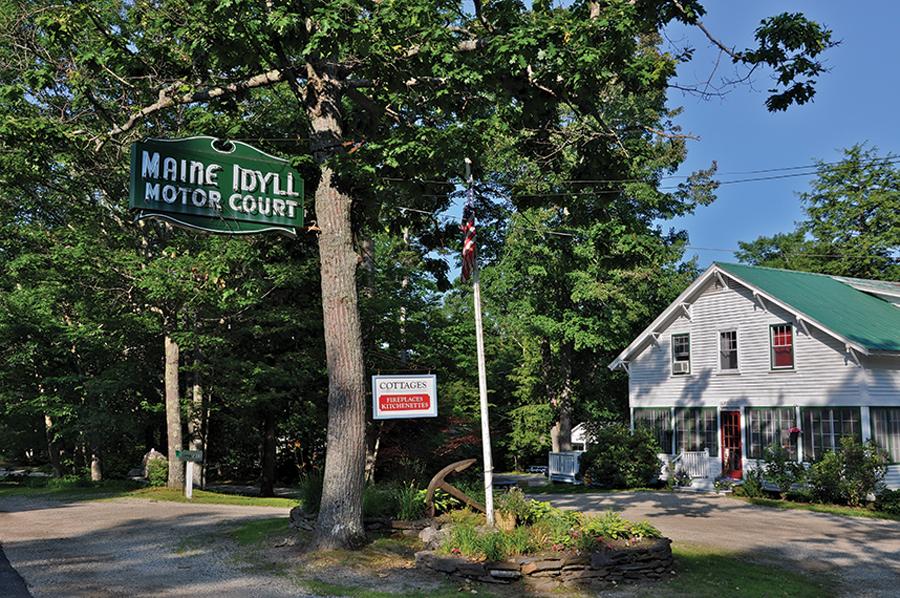 Freeport's last motor court, the Maine Idyll.