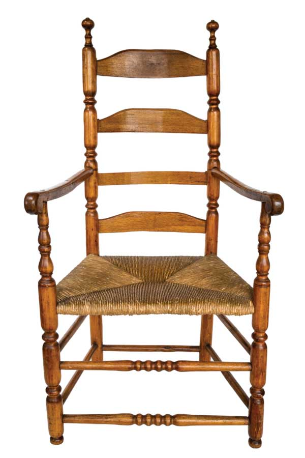 Ladder-back antique armchair