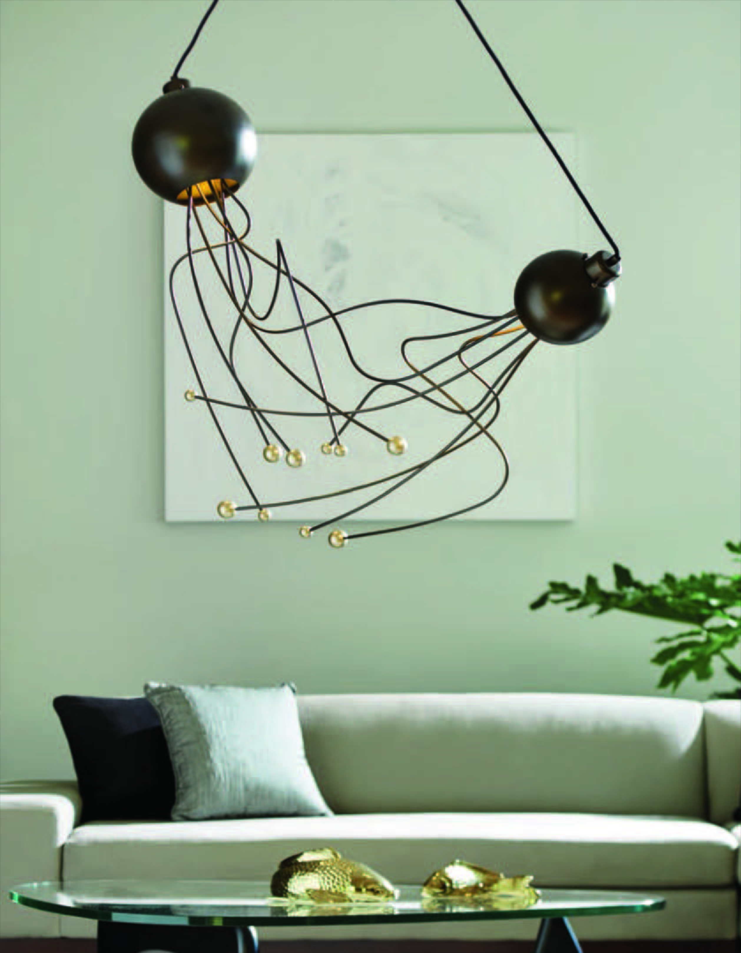 Hubbardton Forge Duet Pendent Fogg Lighting