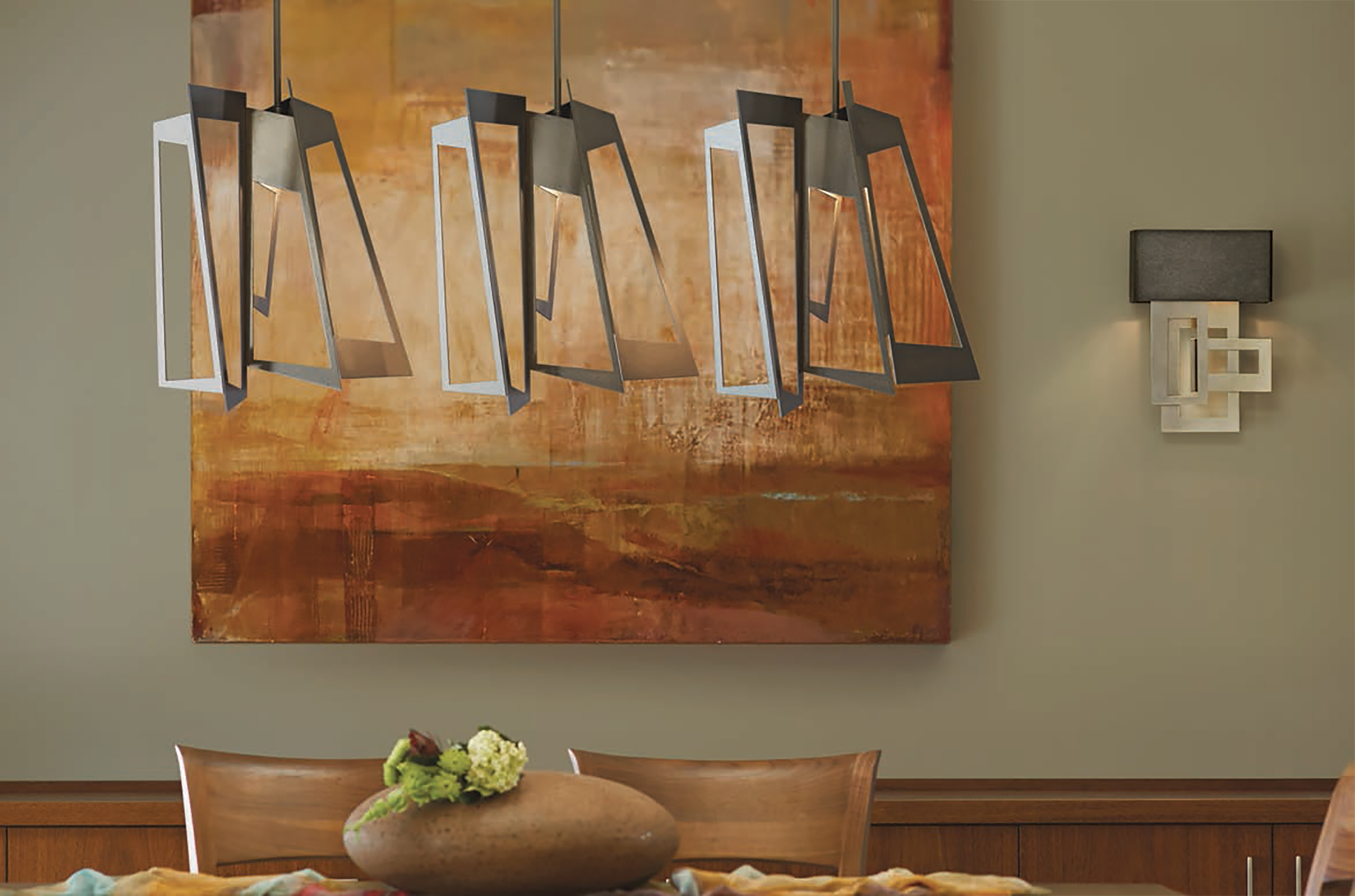 Hubbardton Forge Triptic Pendant Fogg Lighting