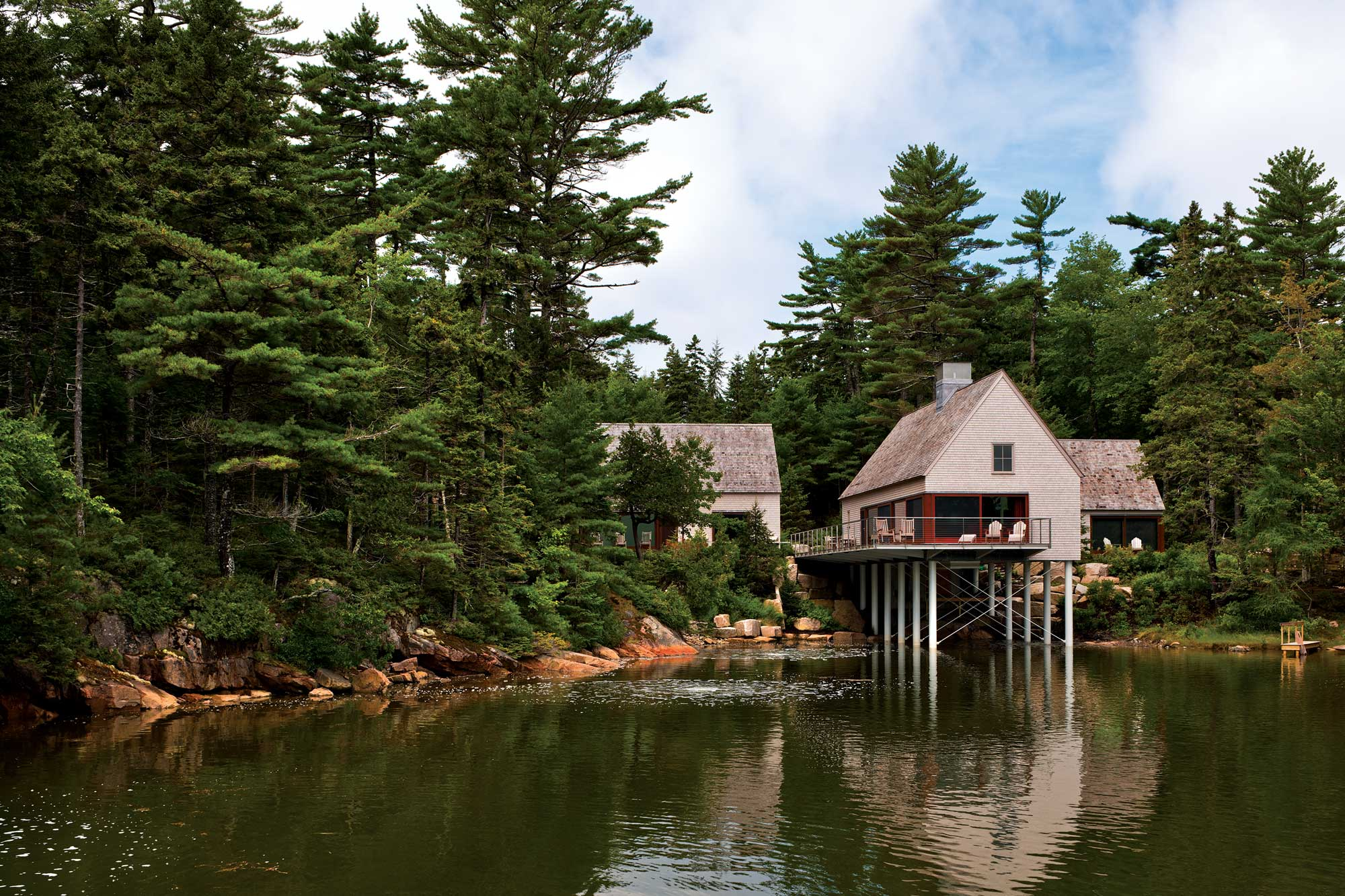 House on a Pond, Mount Desert
