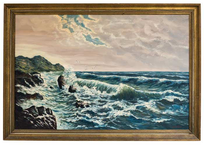 painting of ocean waves