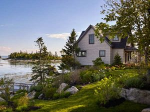 seaside home in Southport, Maine