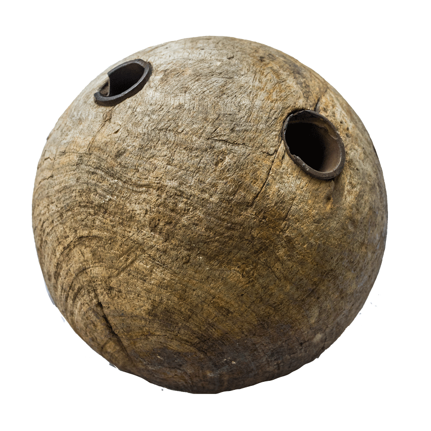 antique ball made of lignum vitae
