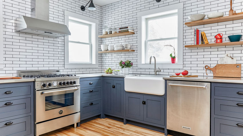 Blue Steel Chef's Kitchen by Block Brother Custom Cabinets