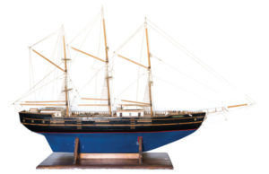 three-masted schooner model