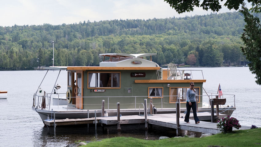 Rangeley Lake houseboat