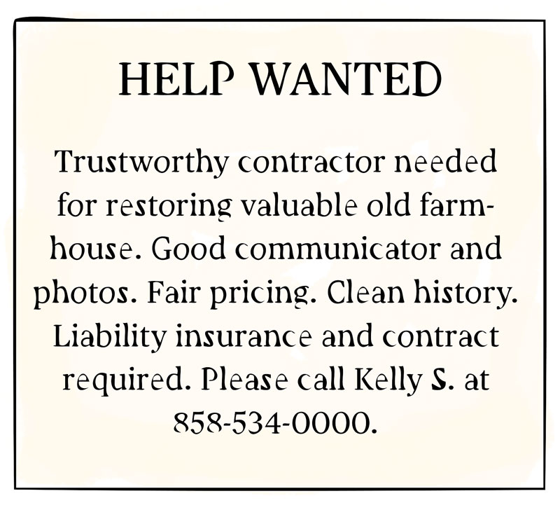 contractors wanted