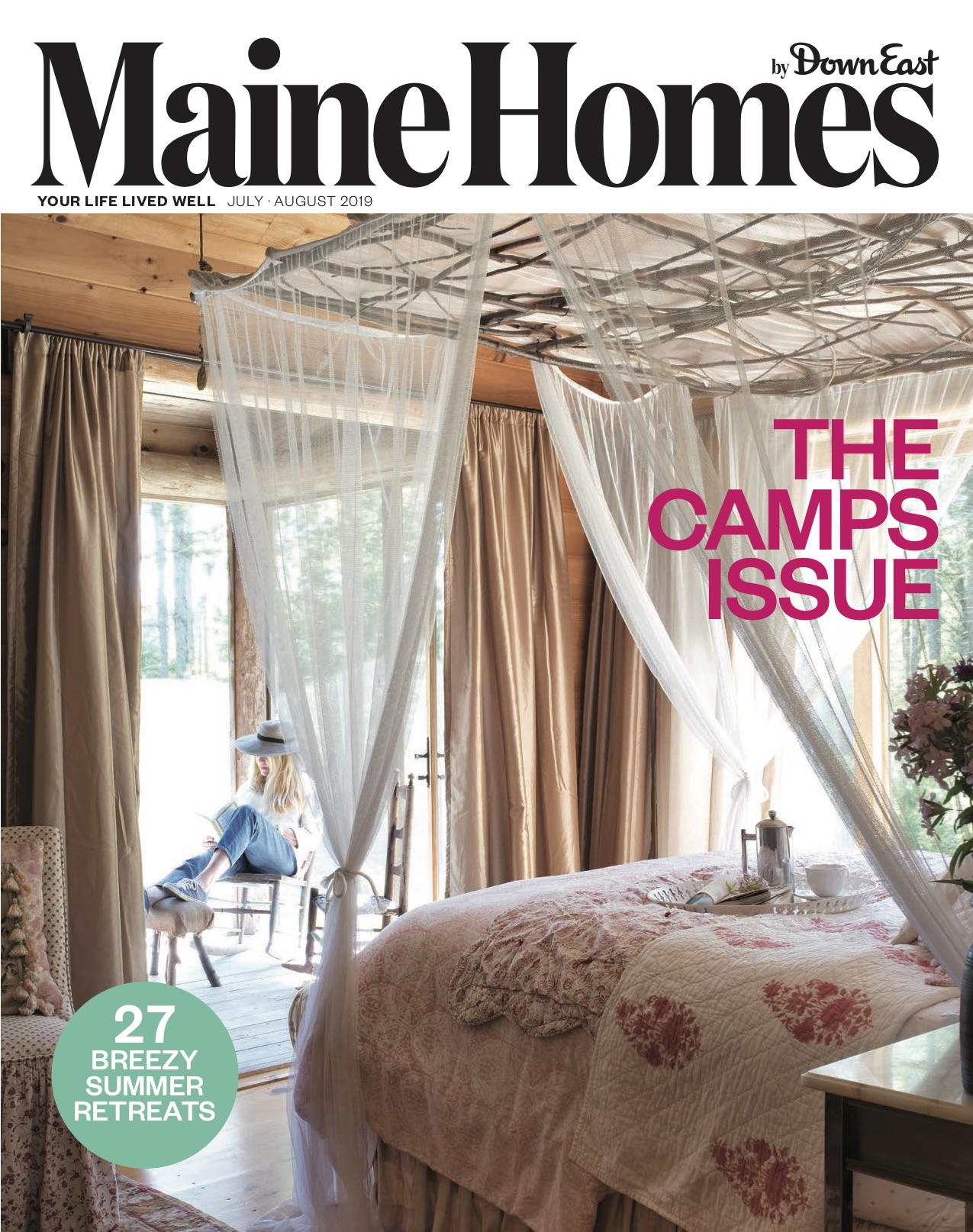 July August 2019, Maine Homes by Down East