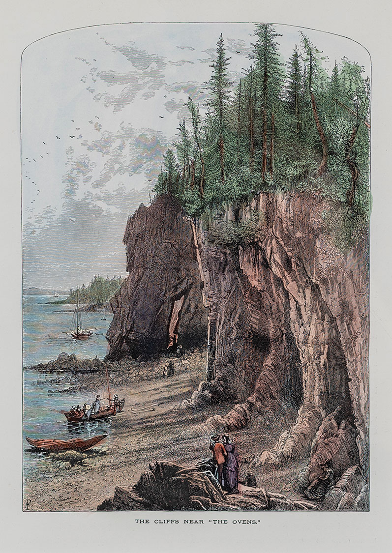 "The Cliffs Near ""The Ovens"" print"