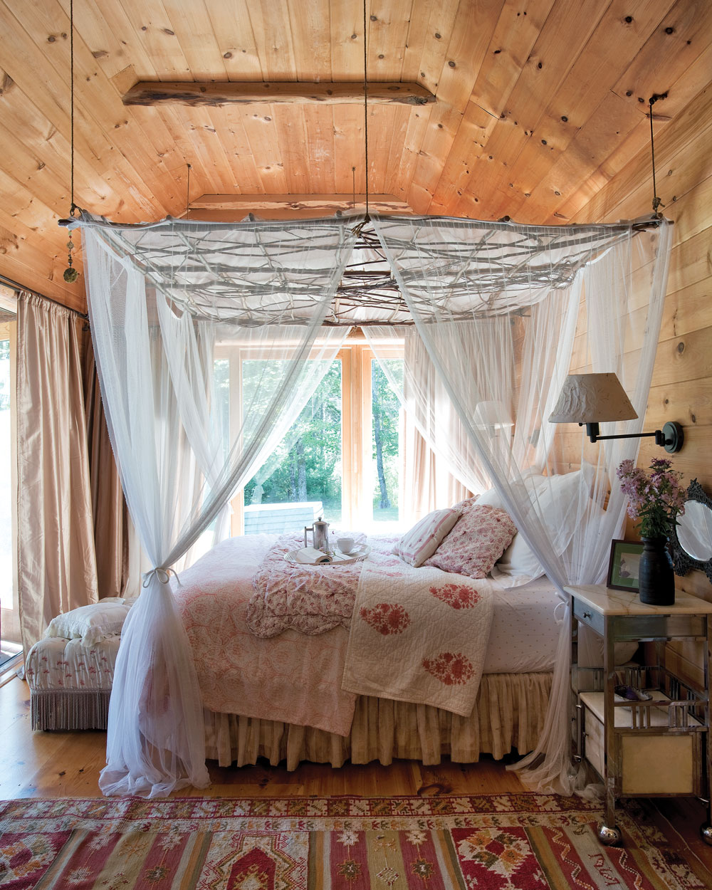 """Canopy Room"" in Searsmont Maine home"