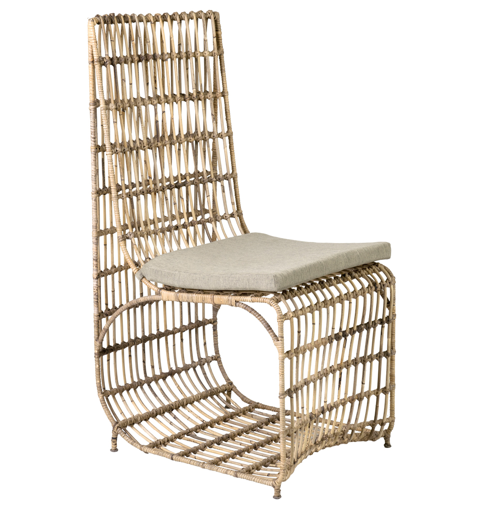 rattan-wrapped iron Marvel dining chair