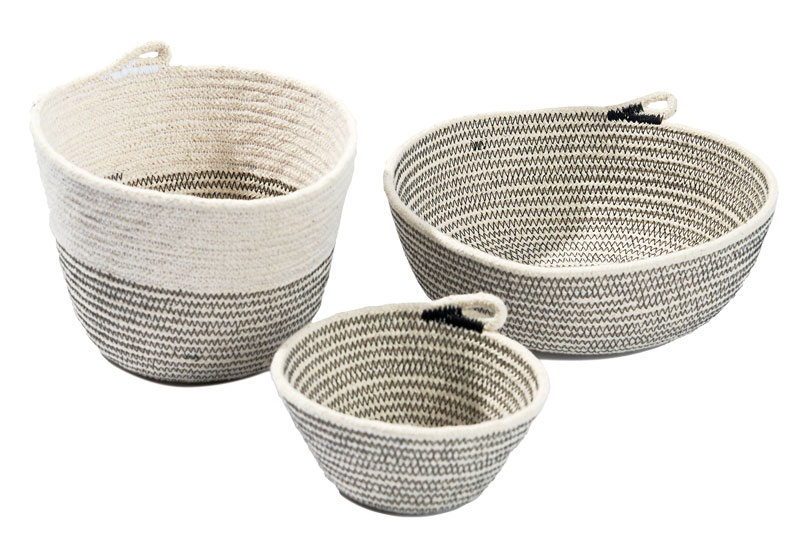 TetherMade's cotton rope baskets
