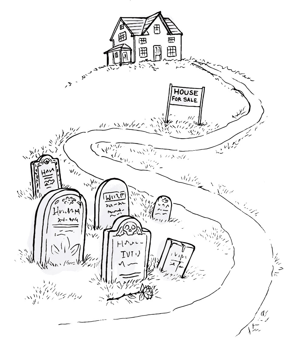 selling a home near a cemetery
