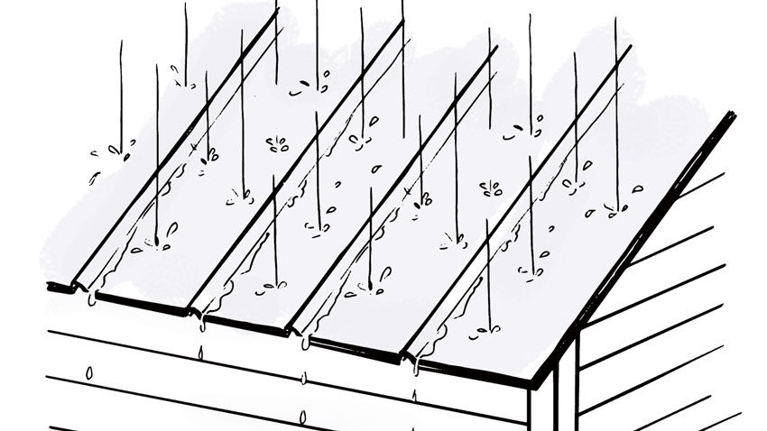 are metal roofs noisy when it rains?