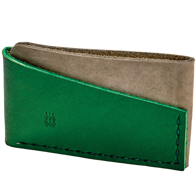 the leather Fairview wallet
