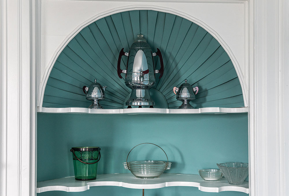 The Capt. Johnson H. Stover Jr. House's early 20th-century shell-shaped cupboard