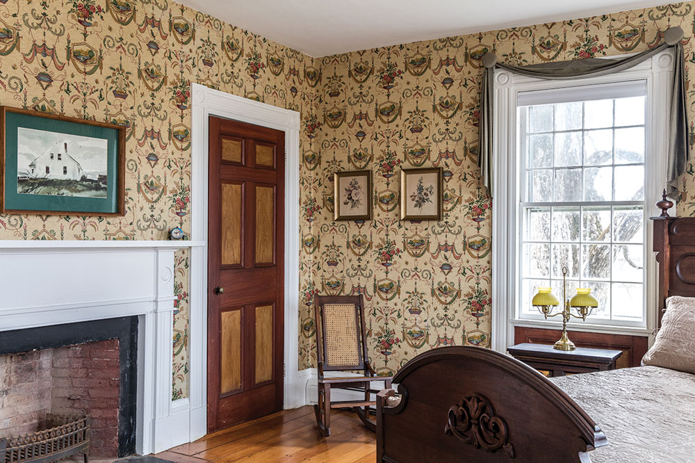 One of the Capt. Johnson H. Stover Jr. House's three bedrooms