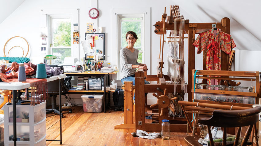 Emi Ito's studio in Bath, Maine