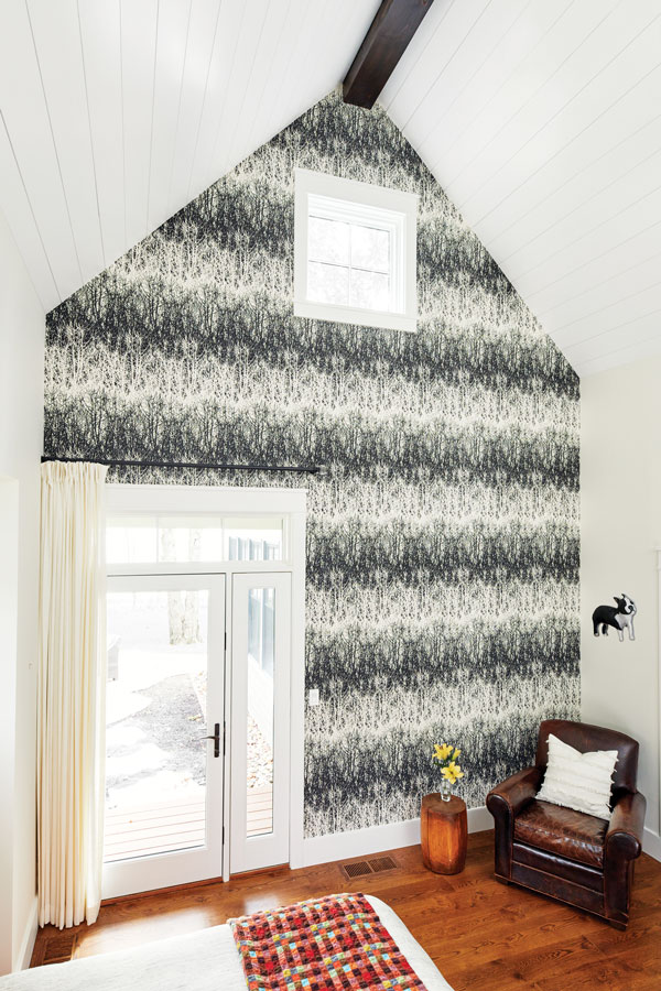 ways to use wall paper, accent wall