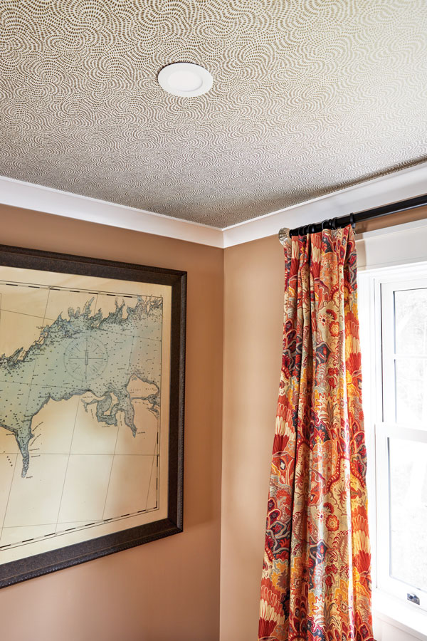 ways to use wallpaper, ceiling