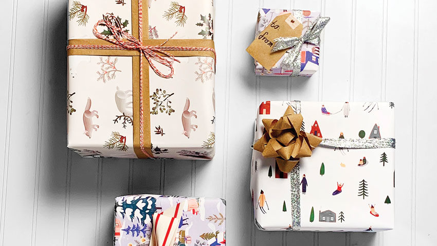 holiday gift wrapping tips from Portland's Gus & Ruby Letterpress