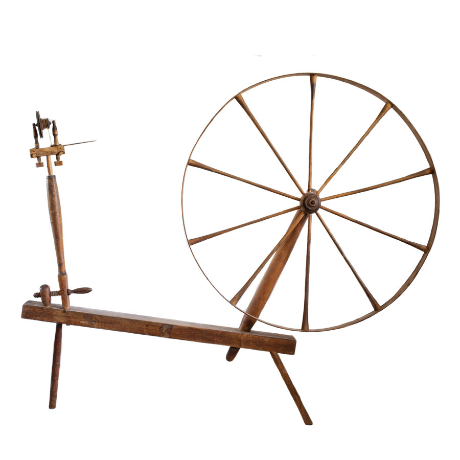 signed Shaker spinning wheel, Maine antique appraisal