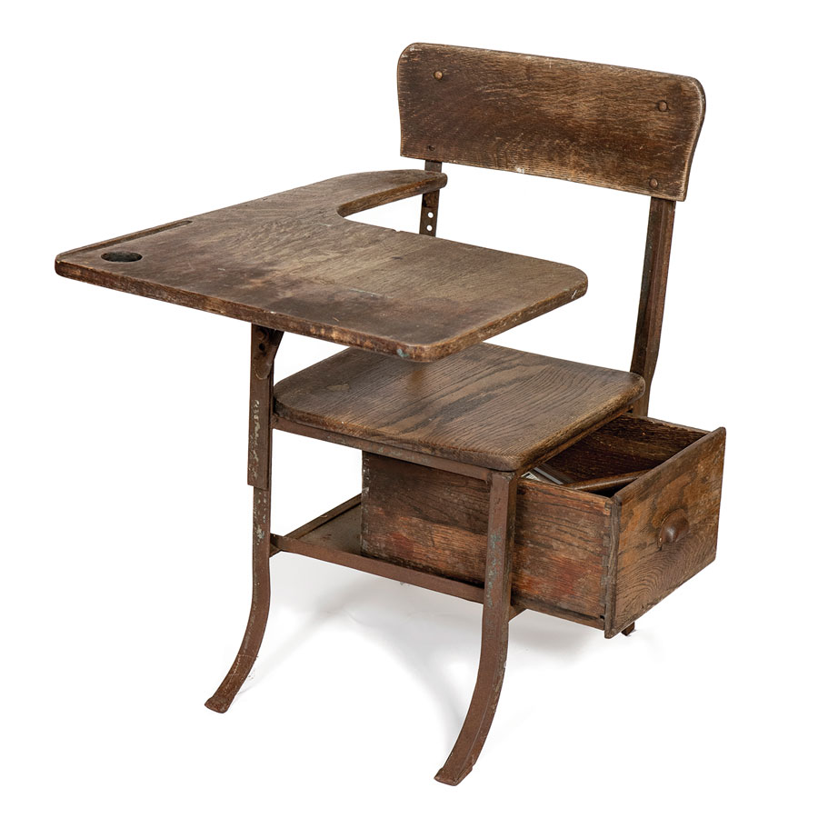 early-20th-century school desk, Maine antique appraisal