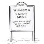 how can i find the mill rate of a town in Maine?