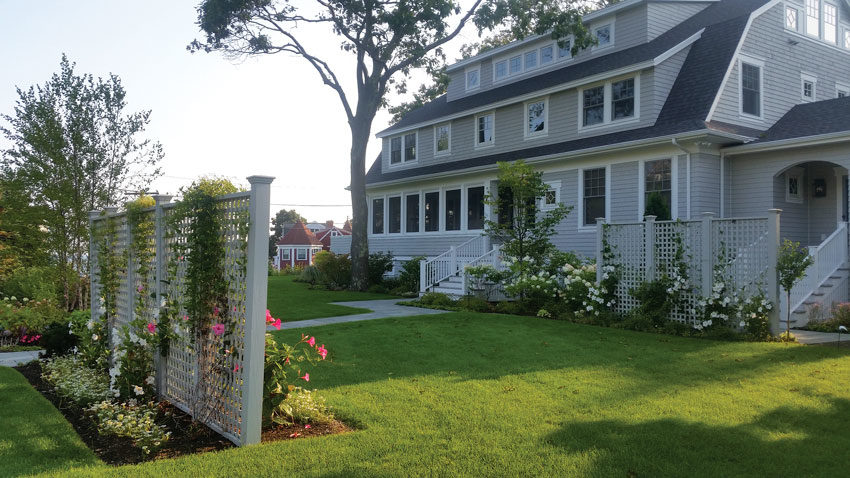 Ted Carter Inspired Landscapes' work at a home in Kennebunk