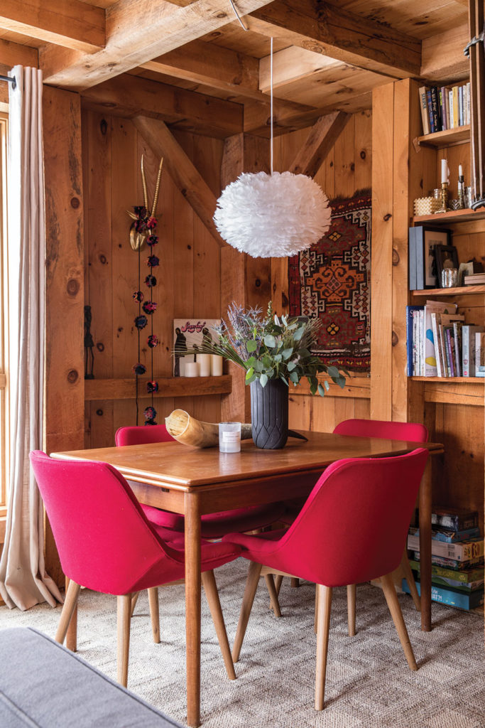 Dining nook in Ali Malone and Ben Ray's 1970s condo in Sugarloaf's Birchwood development