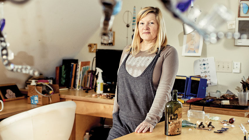 Laura Fuller in her Falmouth Maine studio