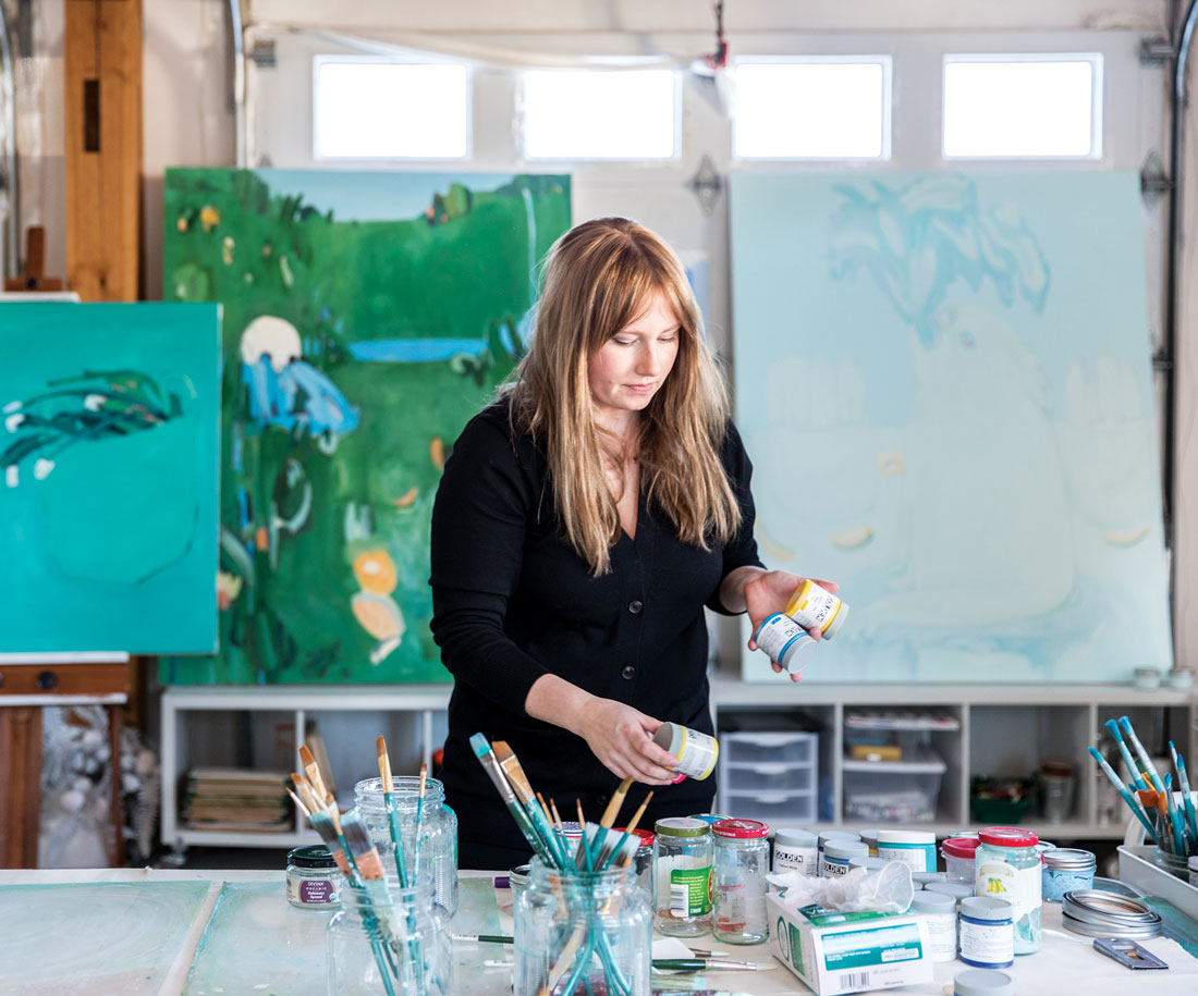 Hannah Secord Wade in her Woolwich studio