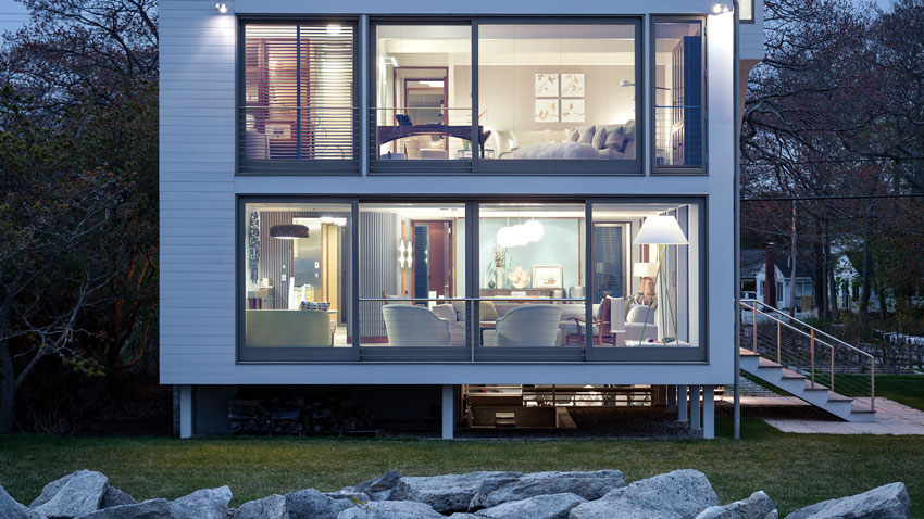 modern beach house in maine