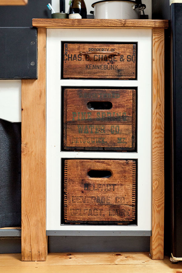 apple crate drawers