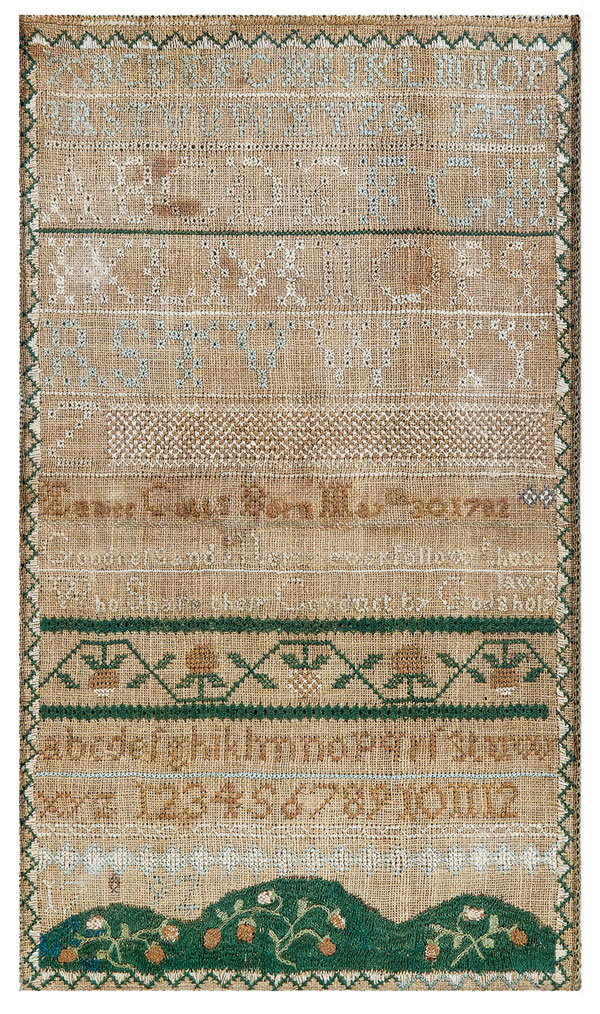 sampler from Misses Martin's School for Young Ladies in North Yarmouth