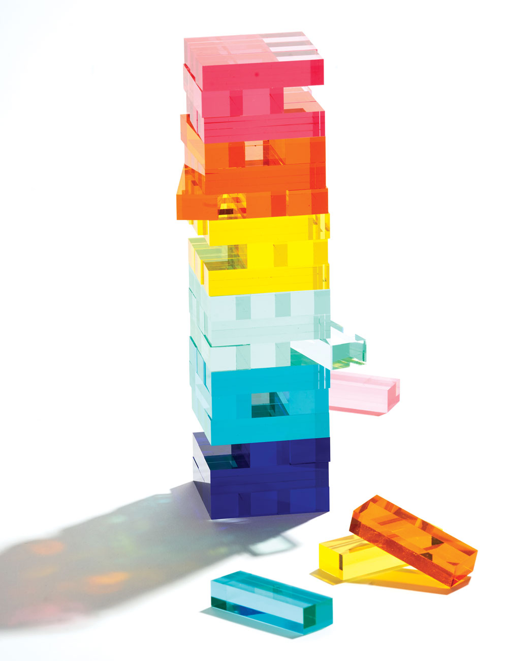Lucite Jumbling Tower
