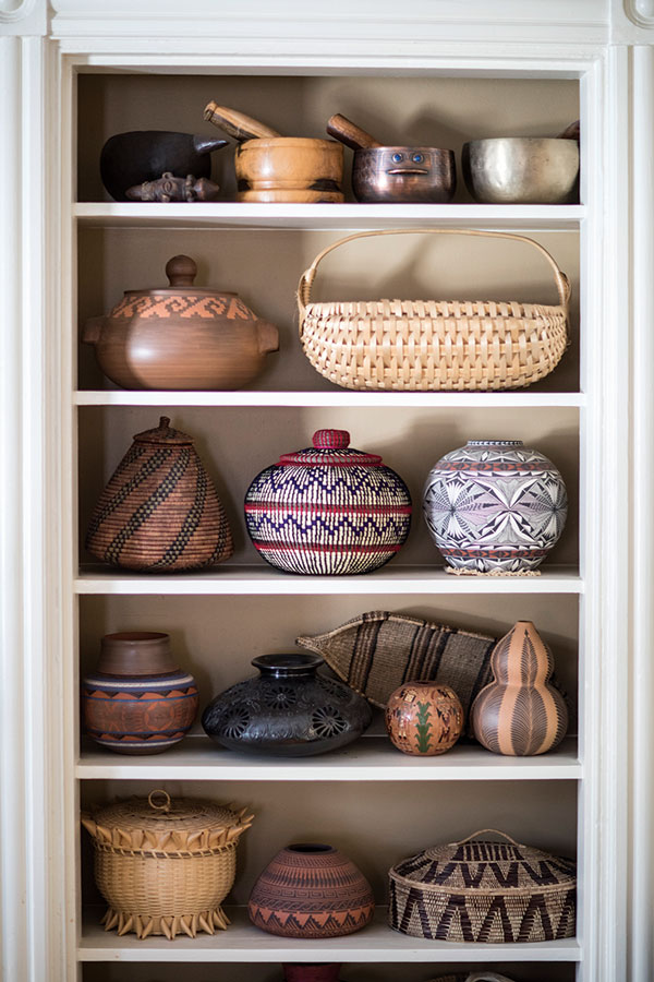Baskets and ceramics by indigenous artisans